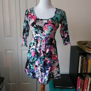 dd4d7939978 Charlotte Russe Dresses - Floral colorful open criss cross back skater dress